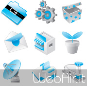 Blue vector icons