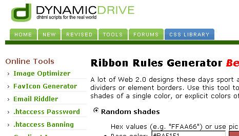 tools.dynamicdrive.com/ribbon/