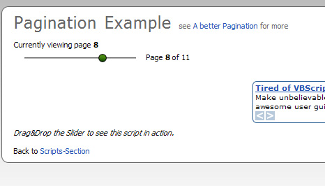 A better Pagination with MooTools