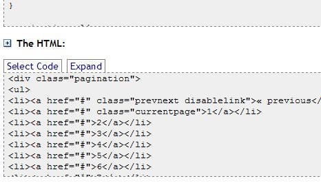 CSS Pagination Links