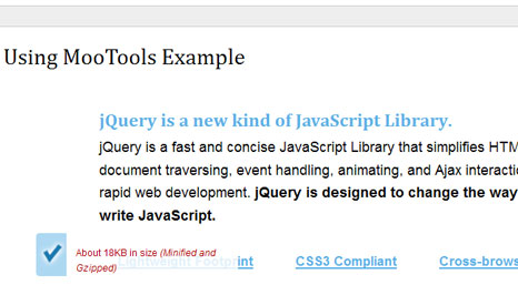 Duplicate the jQuery Homepage Tooltips Using MooTools Example