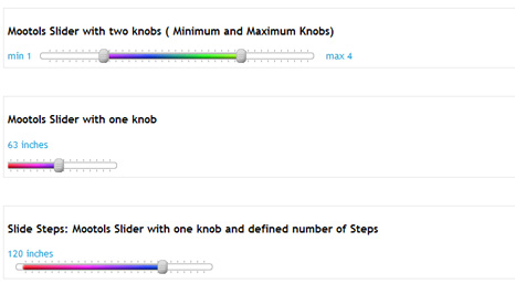 MooTools Slider with two knobs