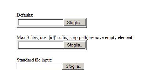 Multiple file uploader