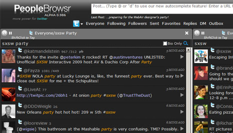 PeopleBrowsr screenshot