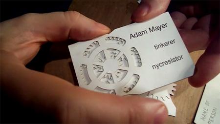 Adam Mayer Geared Business Cards