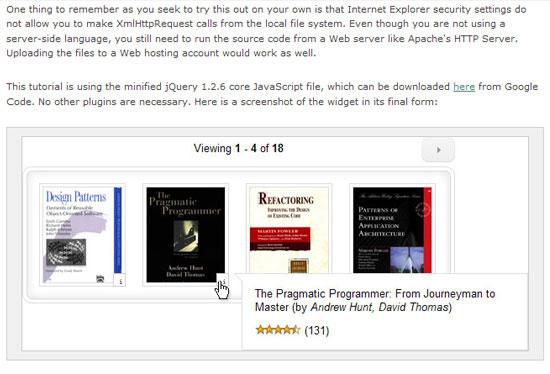 Amazon Books Widget