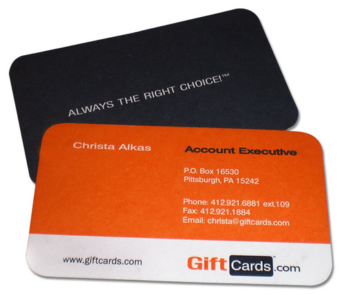 Gift Card Business Card
