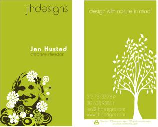 Jen's business card