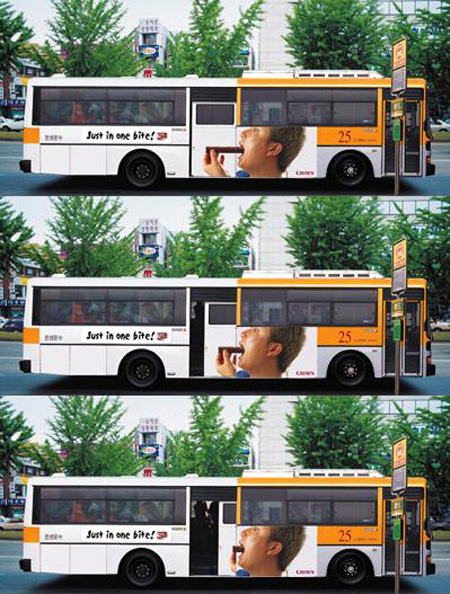 Just in One Bite Bus Advertisemen