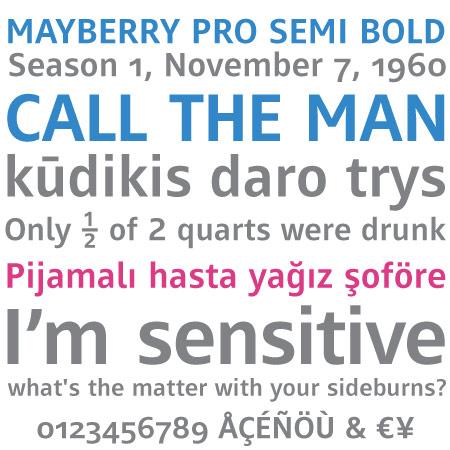 Mayberry Pro SemiBold