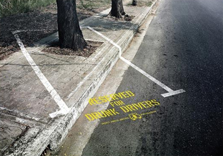 Reserved for Drunk Drivers Advertisement