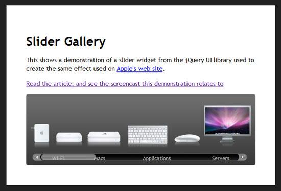Slider gallery