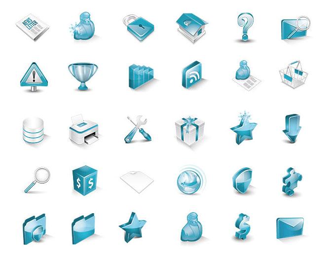 Turqua – 3D Isometric Icons