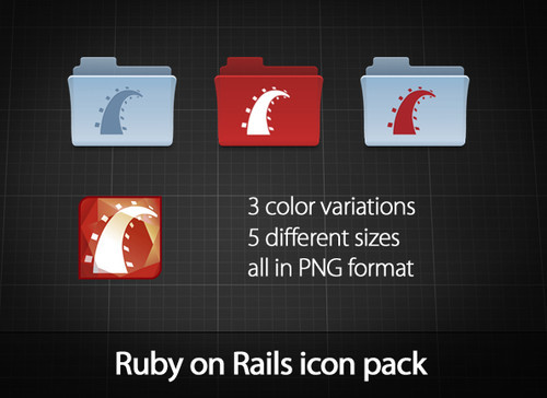 Ruby on rails icon pack