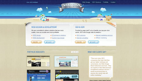 Web Design Beach