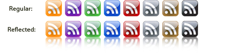 Free Glass Style RSS/Feed Icons