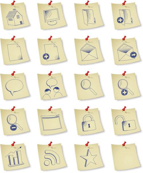 Sketchy Paper Icon Set