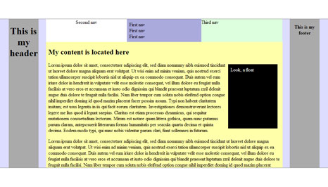 CSS3 Template Layout realized with jQuery