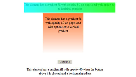 How To Element Gradient with jquery