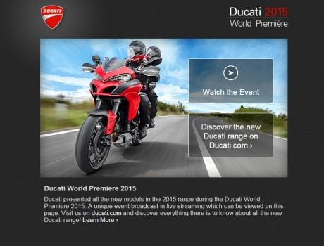 Ducati 2015 World Première